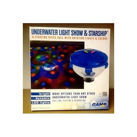 UNDERWATER LIGHT Show starship
