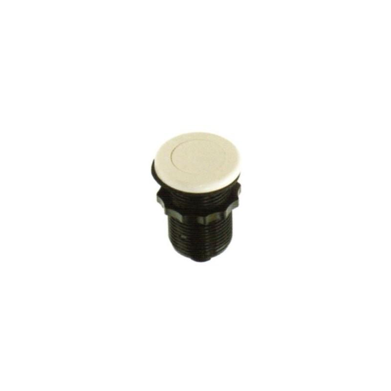 Bouton pneumatique - mini, plat, blanc