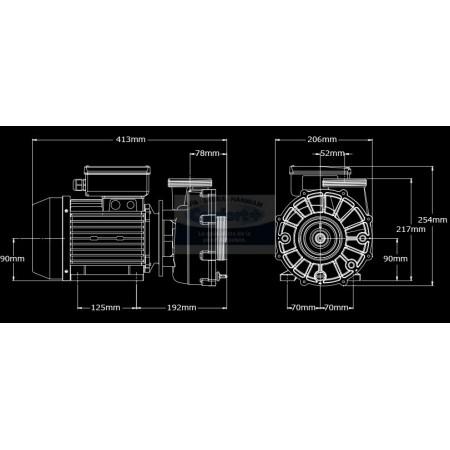 Pompe Aqua-flo XP3 3.0HP 2 vitesses (2.5*2.5)