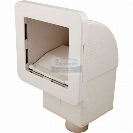 Skimmer Waterway Front Access carré avec filtre pww10 blanc
