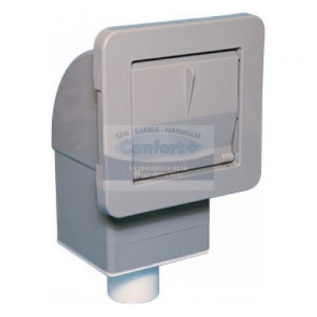 Skimmer Waterway Front Access carré avec filtre pww10 gris