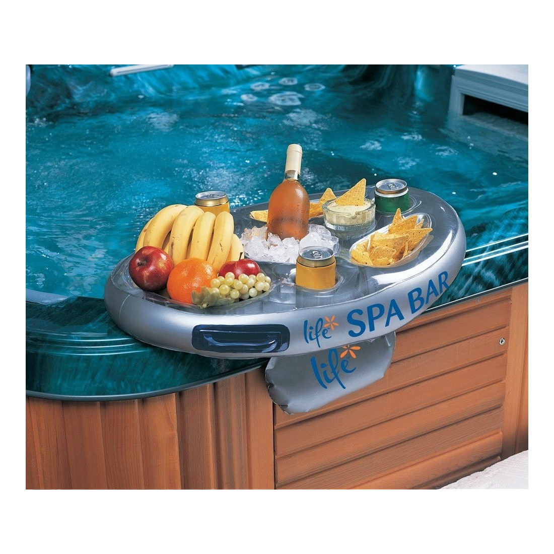 Spa bar plateau flottant spa bar gonflable vous for Plateau piscine flottant
